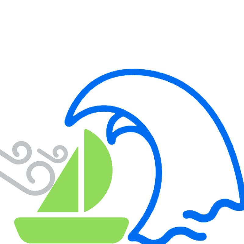 Un bateau en mer