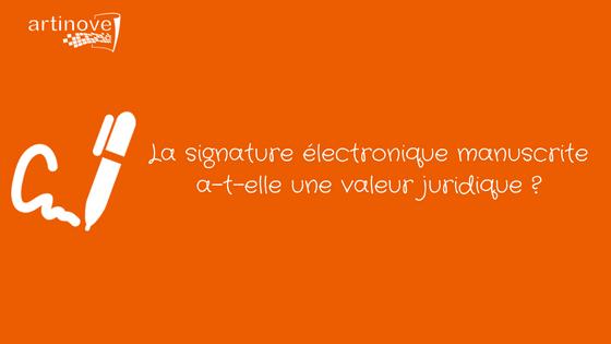 Signature électronique manuscrite